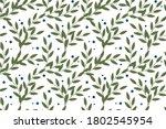 vector floral seamless pattern... | Shutterstock .eps vector #1802545954