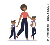 african american mother with...   Shutterstock .eps vector #1802552377