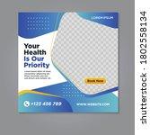 medical social media banner... | Shutterstock .eps vector #1802558134
