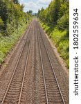 Two Parallel Railway Tracks On...
