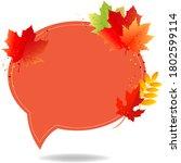 autumn poster speech bubble...   Shutterstock .eps vector #1802599114