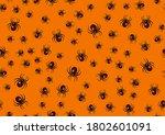 halloween spider pattern....   Shutterstock .eps vector #1802601091