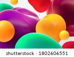 colorful flowing bubbles....   Shutterstock .eps vector #1802606551