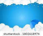cloud rain with umbrella on...   Shutterstock .eps vector #1802618974