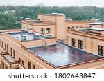 Flat Roof With Air Conditioners ...
