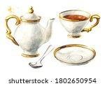 Teapot  Cup And Saucer Set....
