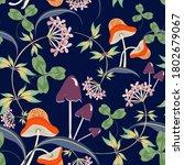 vector floral seamless pattern... | Shutterstock .eps vector #1802679067