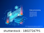 data processing  big data... | Shutterstock .eps vector #1802726791
