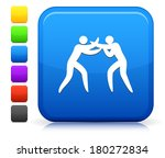 boxing icon on square internet... | Shutterstock .eps vector #180272834