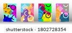 modern memphis background set...   Shutterstock .eps vector #1802728354