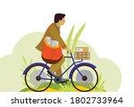 Illustration Of Indian Postman...