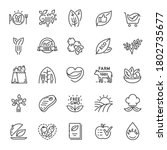 eco food  icon set. organic... | Shutterstock .eps vector #1802735677