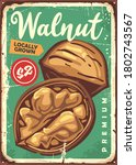 Walnut In Shell Retro Old Metal ...