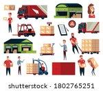 warehouse. logistics...   Shutterstock .eps vector #1802765251