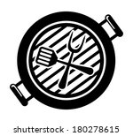 barbecue grill on white... | Shutterstock .eps vector #180278615