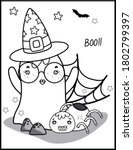 coloring book page for... | Shutterstock .eps vector #1802799397