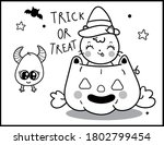 coloring book page for... | Shutterstock .eps vector #1802799454