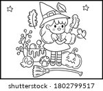 coloring book page for... | Shutterstock .eps vector #1802799517