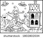 coloring book page for... | Shutterstock .eps vector #1802802034