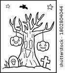 coloring book page for... | Shutterstock .eps vector #1802804044