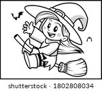 coloring book page for... | Shutterstock .eps vector #1802808034
