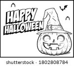 coloring book page for... | Shutterstock .eps vector #1802808784