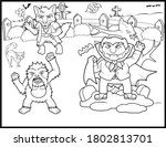 coloring book page for... | Shutterstock .eps vector #1802813701