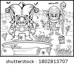 coloring book page for... | Shutterstock .eps vector #1802813707