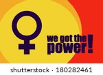 women's power | Shutterstock .eps vector #180282461