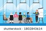 collaboration of diversity... | Shutterstock .eps vector #1802843614