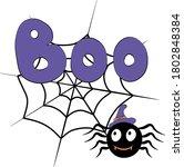 cute vector halloween...   Shutterstock .eps vector #1802848384