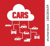 cars squares design over red... | Shutterstock .eps vector #180285659
