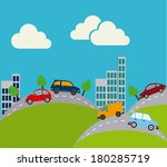city draw design landscape... | Shutterstock .eps vector #180285719