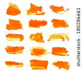 orange wet paint brush strokes... | Shutterstock .eps vector #180286661