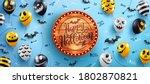 happy halloween banner with... | Shutterstock .eps vector #1802870821
