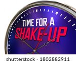 time for a shake up change... | Shutterstock . vector #1802882911