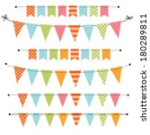 blank banner  bunting or swag... | Shutterstock . vector #180289811