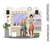 hair salon interior....   Shutterstock .eps vector #1802900551