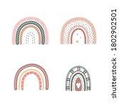 trendy rainbows in boho style... | Shutterstock .eps vector #1802902501