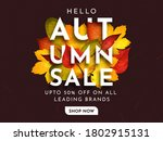hello autumn big discount sale... | Shutterstock .eps vector #1802915131