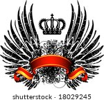 an heraldic shield or badge ... | Shutterstock .eps vector #18029245