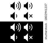 sound volume icons vector design | Shutterstock .eps vector #1802941237