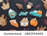 Multicolored Autumn Cookies On...
