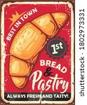 bread and pastries poster sign... | Shutterstock .eps vector #1802973331