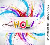 gulal for holi festival... | Shutterstock .eps vector #180297719