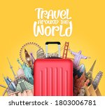 travel around the world vector... | Shutterstock .eps vector #1803006781