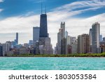 Chicago Skyline At Sunny Summe...