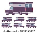 rv camper van car  recreational ... | Shutterstock .eps vector #1803058837