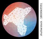 Vector Network Salt Island Map...