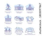 north america city landmarks.... | Shutterstock .eps vector #1803097867